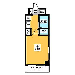 パンルネックスクリスタル九大前[4階]の間取り