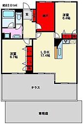 アーバンパレス寺塚フォレスト[4階]の間取り