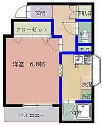 カミニート円山町[305号室]の間取り