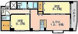 福富リングマンション[3階]の間取り