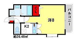 プラシードヴィラ[3階]の間取り