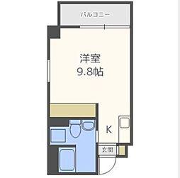 シーズアパートメント中之島[6階]の間取り