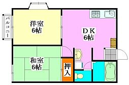 ビラ・ネプチュ−ンA棟[1階]の間取り