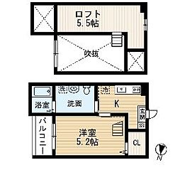 愛知県名古屋市南区観音町4丁目の賃貸アパートの間取り