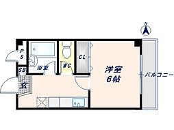 パルテカワサキ[2階]の間取り