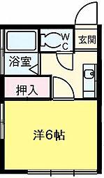 東京都国立市富士見台4丁目の賃貸アパートの間取り