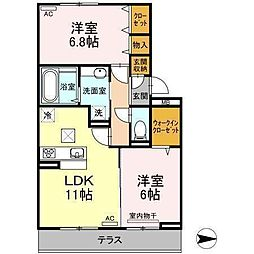 D-room吉藤(仮)[102 号室号室]の間取り