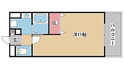 RISING SUN元町[301号室]の間取り