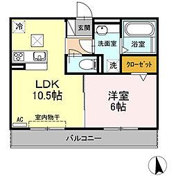 仮)D-room小木田町PJ[102号室]の間取り