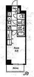 エルスタンザ清澄白河[2階]の間取り