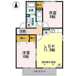 ルピナK・S ABC[C201号室]の間取り