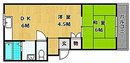 M'PLAZA津田駅前六番館[2階]の間取り