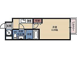 ドゥエリング都島 9階1Kの間取り
