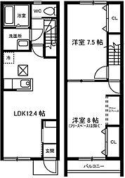 [テラスハウス] 愛知県刈谷市半城土町乙本郷 の賃貸【/】の間取り