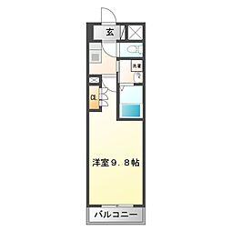 アスリート江坂II番館[7階]の間取り