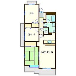 ガ−デンハウス綱島A棟[1階]の間取り