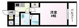 Osaka Metro御堂筋線 江坂駅 徒歩3分の賃貸マンション 12階1Kの間取り