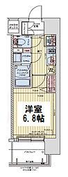 Osaka Metro谷町線 都島駅 徒歩5分の賃貸マンション 11階1Kの間取り