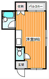 レジアナ中加賀屋[2階]の間取り