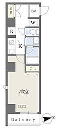 (仮)大田区大森北二丁目計画 7階1Kの間取り