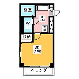 プロクシースクエア山ノ手[2階]の間取り