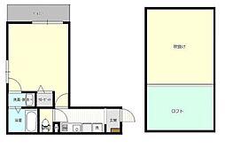神奈川県横浜市緑区鴨居2丁目の賃貸アパートの間取り