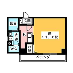 アップル第7マンション[7階]の間取り