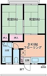 戸塚コーポ[203号室]の間取り