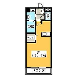 Three-D garden本山[3階]の間取り