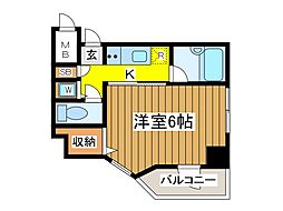 東京都府中市宮西町1丁目の賃貸マンションの間取り