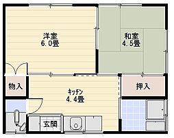 白菊荘[102号室]の間取り