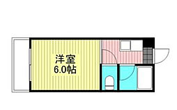 藤田マンション 5階1Kの間取り