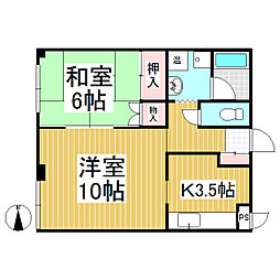 ノヤマビル[2階]の間取り