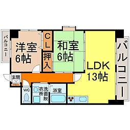 愛知県名古屋市熱田区新尾頭3丁目の賃貸マンションの間取り