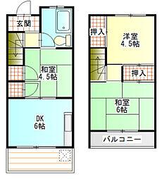 [テラスハウス] 神奈川県小田原市曽比 の賃貸【/】の間取り