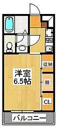千葉県市川市田尻3丁目の賃貸アパートの間取り