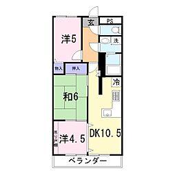 プレステージ姫路III[203号室]の間取り