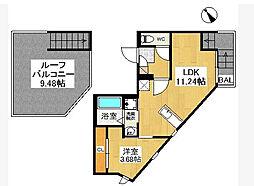 福岡県福岡市南区折立町の賃貸アパートの間取り