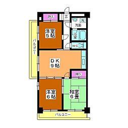 ソレイユ平野[2階]の間取り