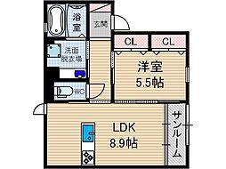 セジュール上穂積[1階]の間取り