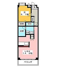 ウェルネス御器所[4階]の間取り