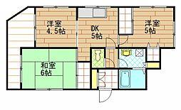 浦賀ダイヤモンドマンション[1階]の間取り