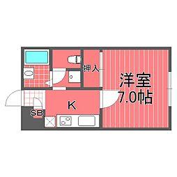 神奈川県横浜市西区岡野2丁目の賃貸アパートの間取り