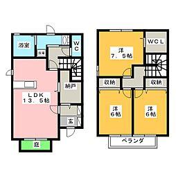 ウィステリア E[1階]の間取り