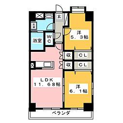 ベルメゾン藤枝[1階]の間取り