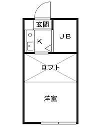 ソレイユ富士見B棟[1階]の間取り