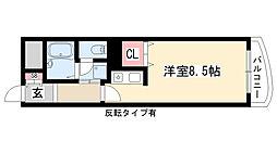 愛知県名古屋市天白区野並2丁目の賃貸マンションの間取り