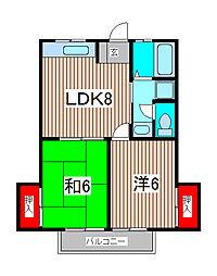 アメニティTAKANO[2階]の間取り