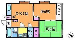 サンハイム2[3階]の間取り