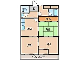 ヤマイチPLAZA東松江[6階]の間取り
